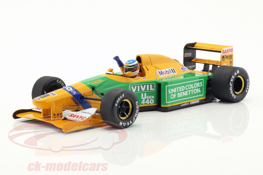 minichamps-1-18-m-schumacher-benetton-b192-no19-1er-gp-victoire-spa-formule-1-1992-110920019/