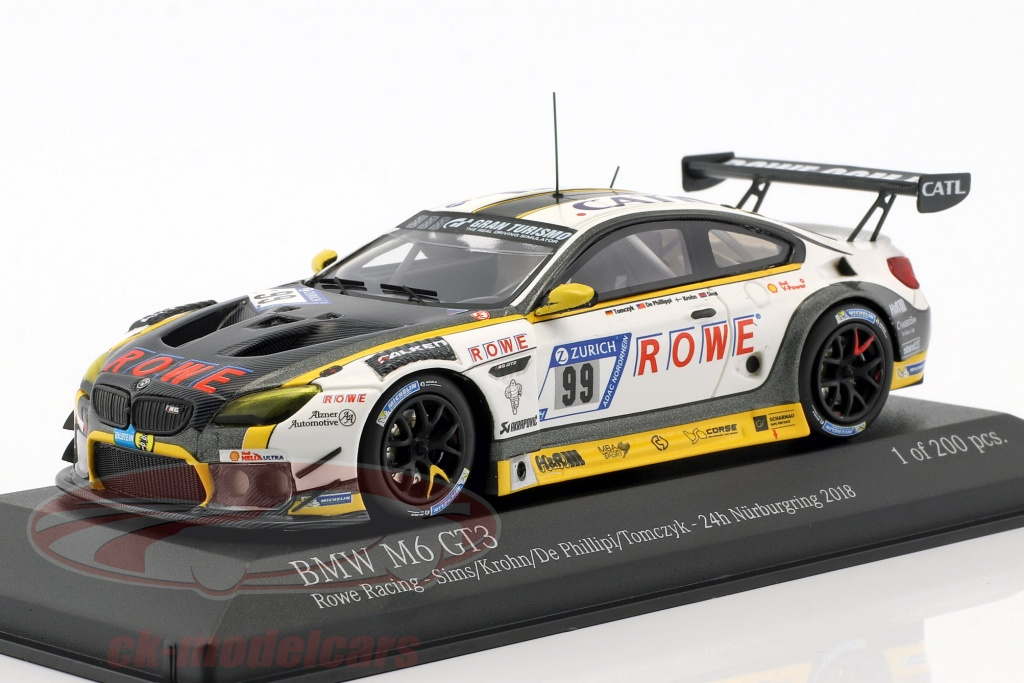 minichamps-1-43-bmw-m6-gt3-no99-24h-nuerburgring-2018-rowe-racing-447182699/