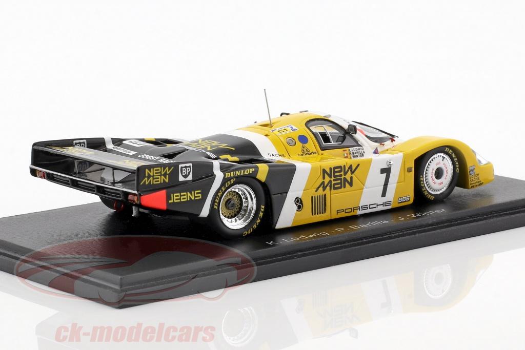 Porsche 956 B winner 24h le mans 1985 New Man Joest Racing 1:43 Spark 43lm85