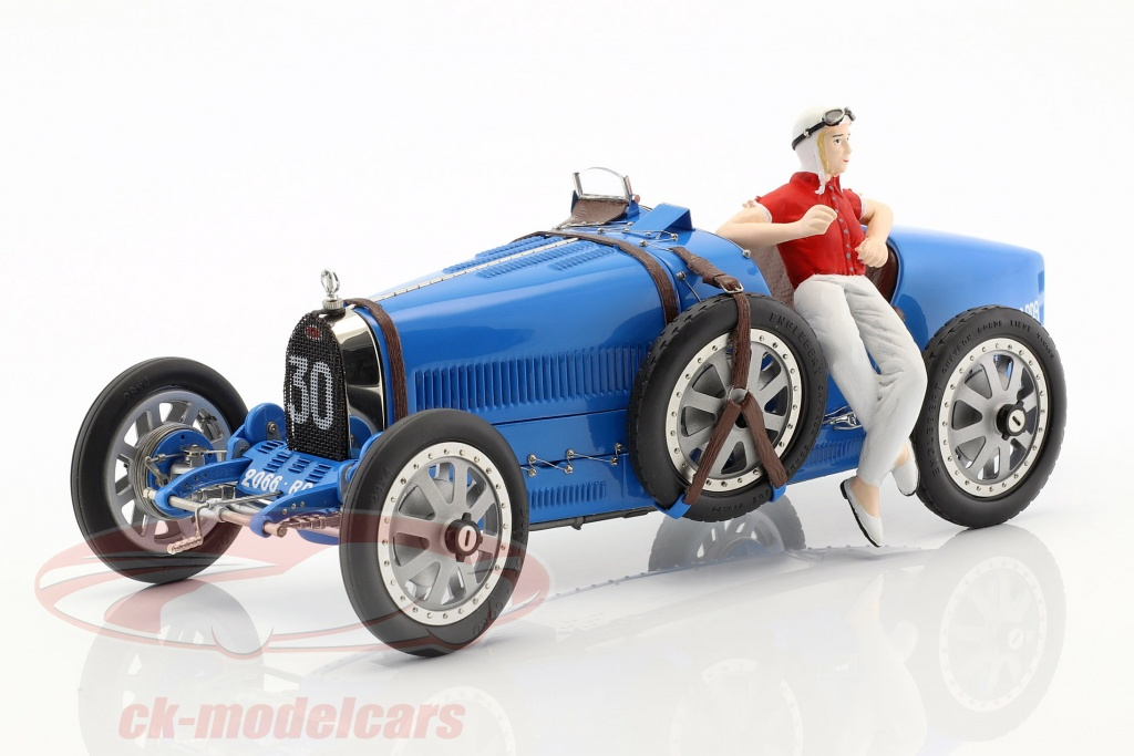 cmc-1-18-bugatti-type-35-grand-prix-no30-blue-with-female-racer-figurine-m-100-b-018/