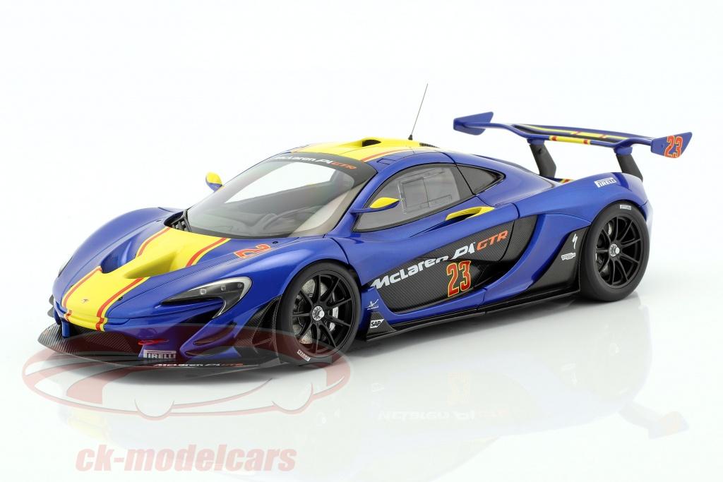 autoart-1-18-mclaren-p1-gtr-baujahr-2015-blue-metallic-yellow-81542/