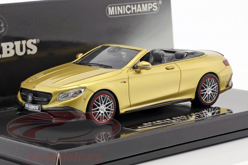 minichamps-1-43-brabus-850-base-sur-mercedes-benz-amg-s63-cabriolet-annee-de-construction-2016-or-437034234/
