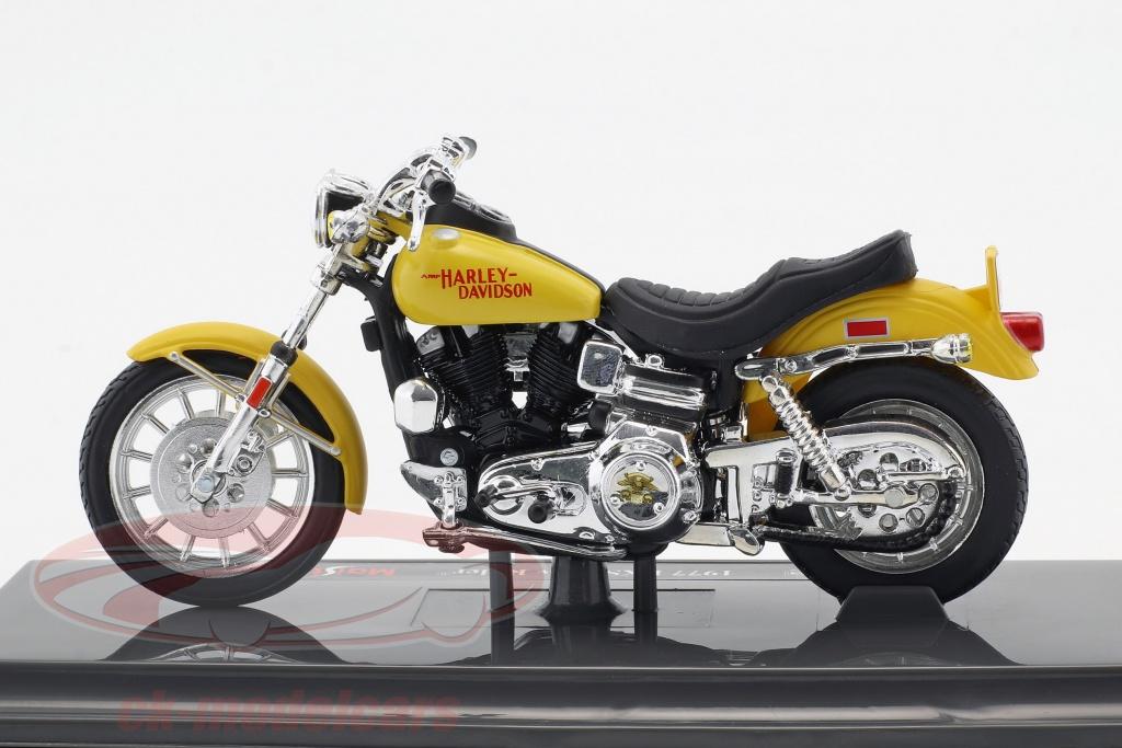Motorrad Modell 1:18 Harley Davidson FXS Low Rider 1977 gelb von Maisto