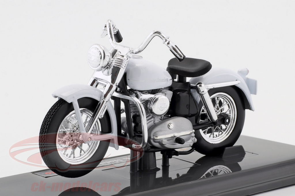 maisto-1-18-harley-davidson-k-model-anno-di-costruzione-1952-bianco-39360-20-18858/