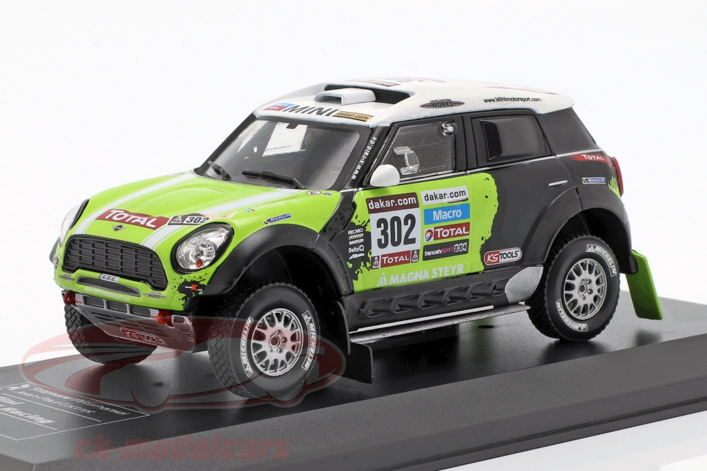 direkt-collections-1-43-mini-all4-racing-no302-winnaar-rallye-dakar-2013-peterhansel-cottret-wp1402l13c12/