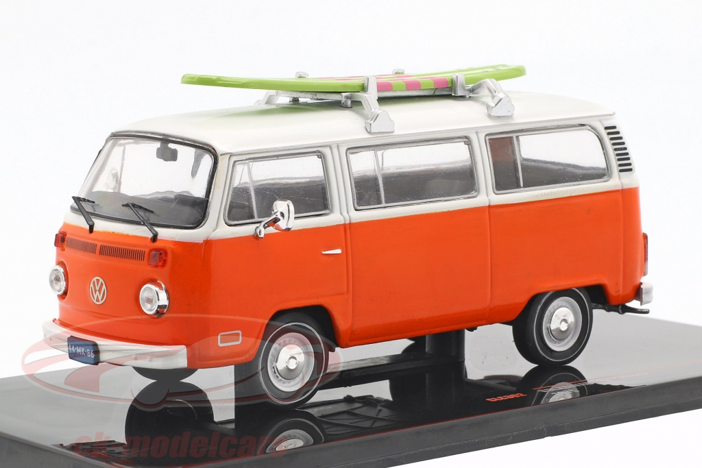 ixo-1-43-volkswagen-vw-t2-bus-with-surfboard-year-1975-orange-white-clc302/
