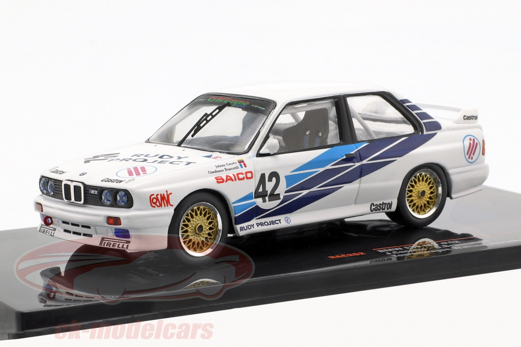 ixo-1-43-bmw-m30-e30-no42-touring-car-vm-dijon-1987-cibiemme-cecotto-brancetelli-rac262/
