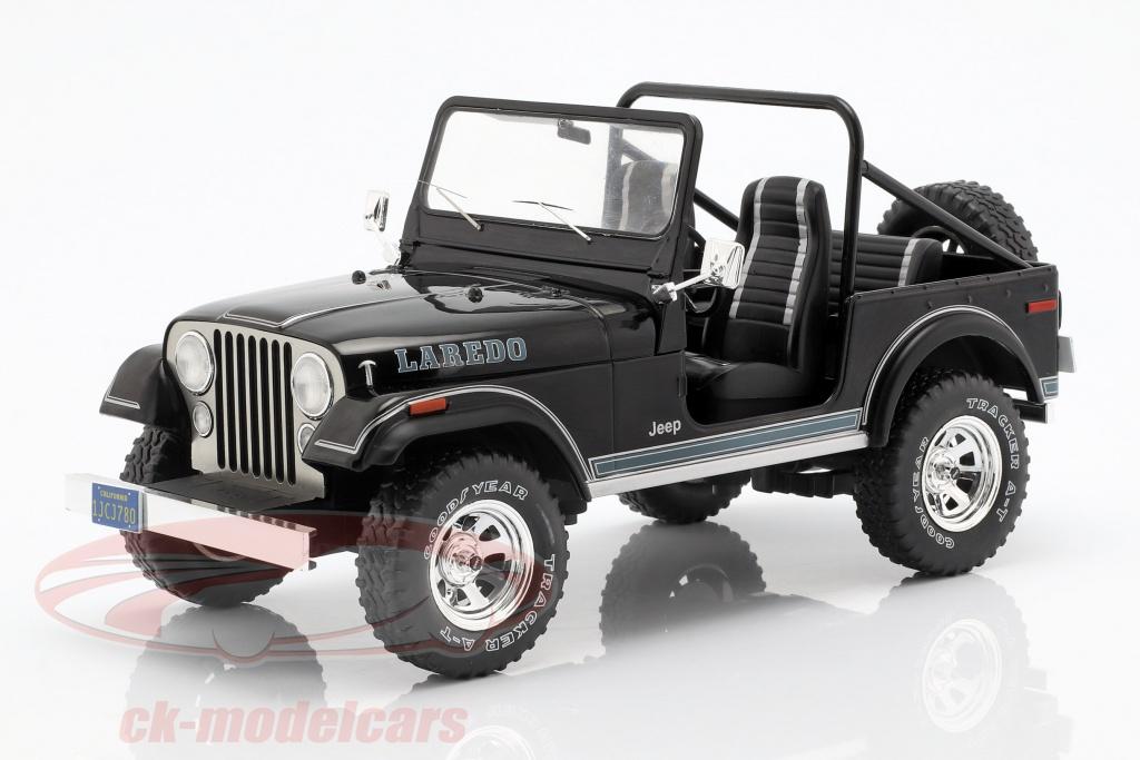 modelcar-group-1-18-jeep-cj-7-laredo-year-1976-black-mcg18108/