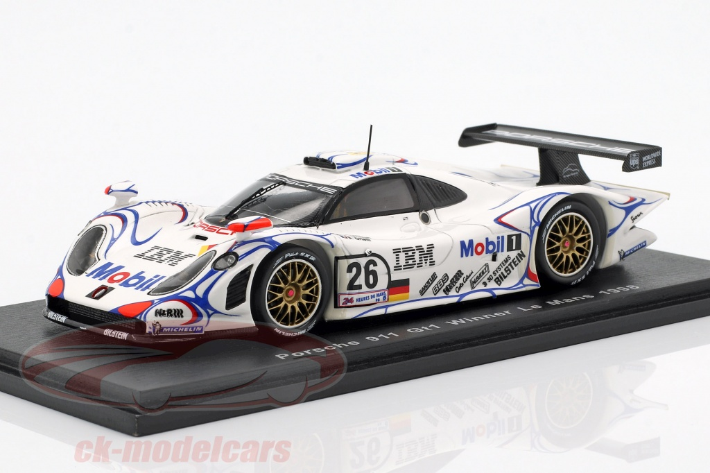 spark-1-43-porsche-911-gt1-no26-winner-24h-lemans-1998-mcnish-aiello-ortelli-43lm98/
