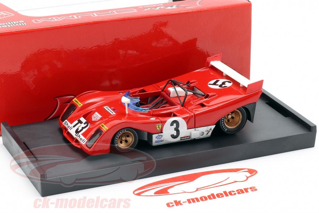Brumm 1:43 Ferrari 312PB #3T Winner Targa Florio 1972 Testcar Merzario, Munari R261BT model car ...