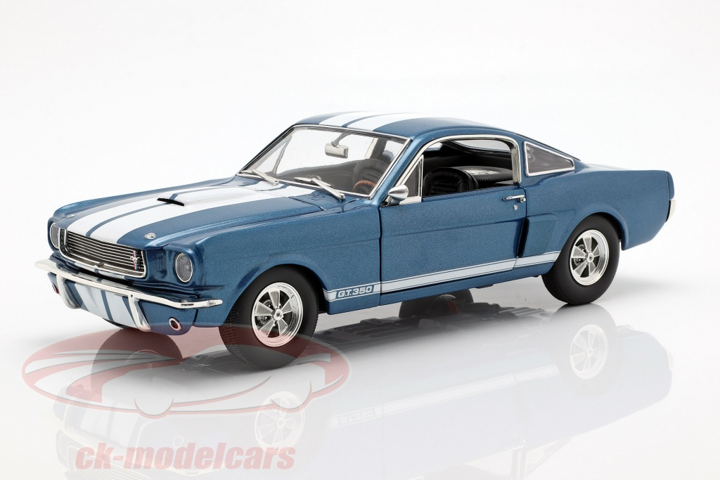 gmp-1-18-shelby-gt350-supercharged-annee-de-construction-1966-bleu-avec-blanc-rayures-a1801834/