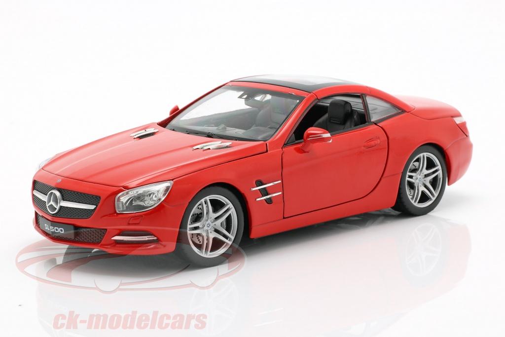 welly-1-24-mercedes-benz-sl-500-anno-di-costruzione-2012-rosso-24041hr-24041w/