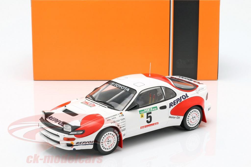 ixo-1-18-toyota-celica-gt-4-st185-no5-rallye-portogallo-1992-schwarz-hertz-18rmc023c/