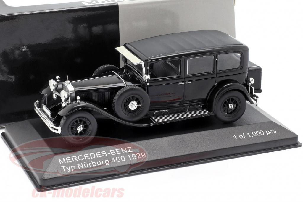whitebox-1-43-mercedes-benz-typen-nuerburg-460-w08-opfrselsr-1929-sort-wb296/