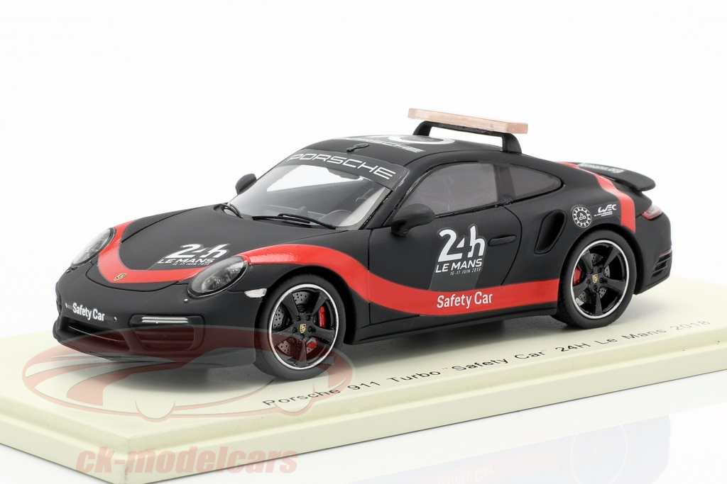 spark-1-43-porsche-911-turbo-safety-car-24h-lemans-2018-black-red-s7046/