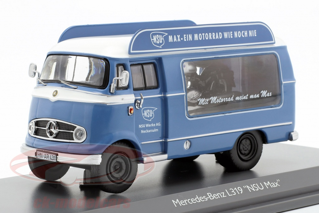 schuco-1-43-mercedes-benz-l319-forfremmelse-bil-nsu-max-bl-hvid-450291800/