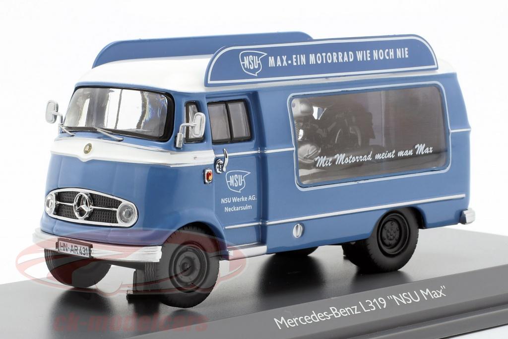 schuco-1-43-mercedes-benz-l319-promotie-auto-nsu-max-blauw-wit-450291800/