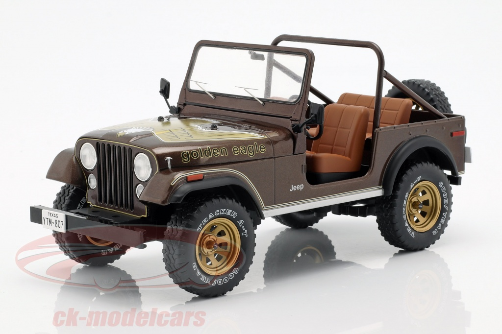 modelcar-group-1-18-jeep-cj-7-golden-eagle-annee-de-construction-1976-brun-fonce-metallique-mcg18109/