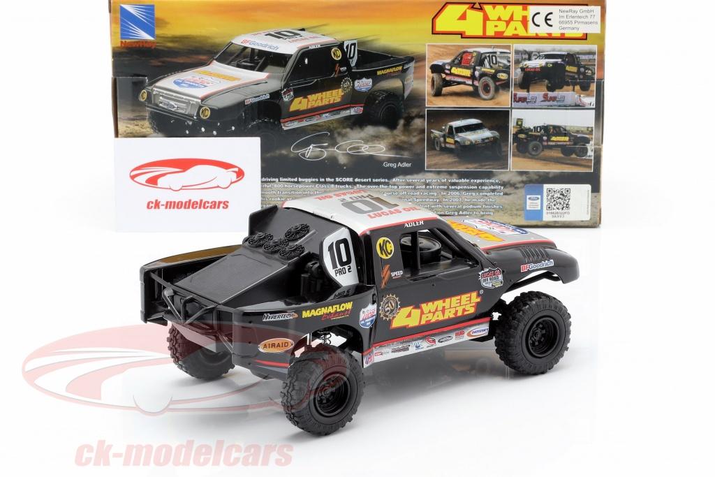 NewRay 1:24 Ford F-150 4 Wheel Parts Off-Road Truck #10 Greg Adler