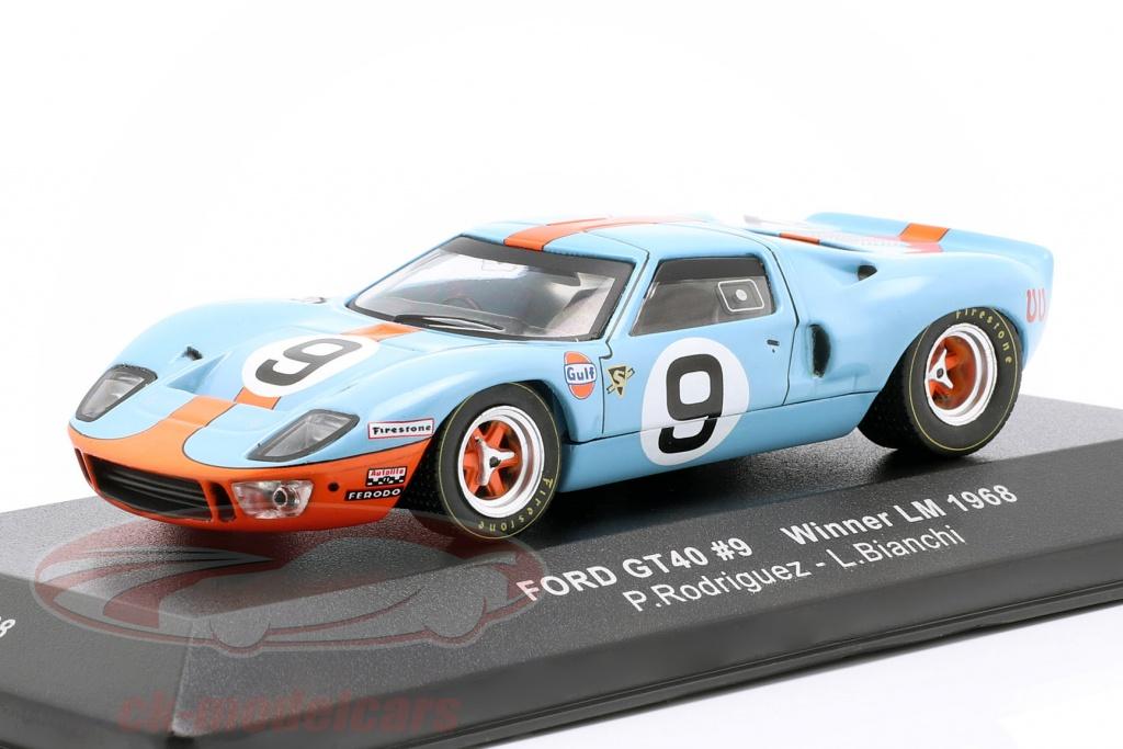 ixo-1-43-ford-gt40-gulf-no9-gagnant-24h-lemans-1968-rodriguez-bianchi-lm1968/
