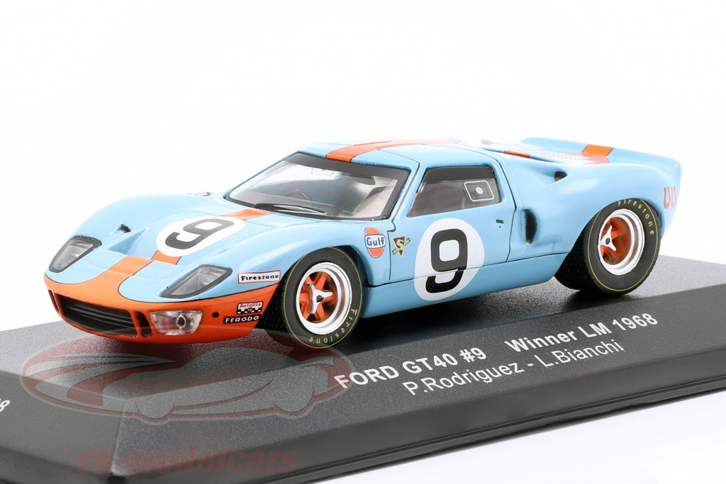 ixo-1-43-ford-gt40-gulf-no9-winnaar-24h-lemans-1968-rodriguez-bianchi-lm1968/