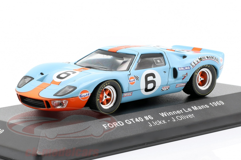 ixo-1-43-ford-gt40-gulf-no6-gagnant-24h-lemans-1969-ickx-oliver-lm1969/