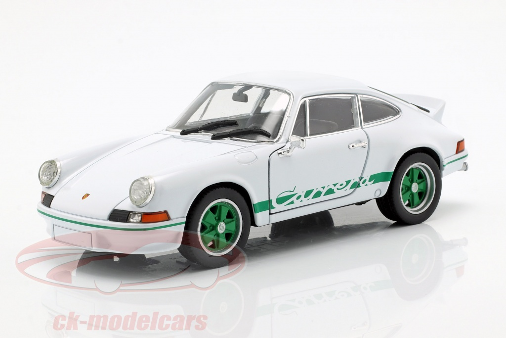 welly-1-24-porsche-911-carrera-rs-annee-de-construction-1973-blanc-vert-map02482218/