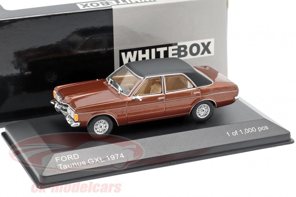 bos-models-1-43-ford-taunus-gxl-anno-di-costruzione-1974-marrone-metallico-nero-whitebox-wb277/