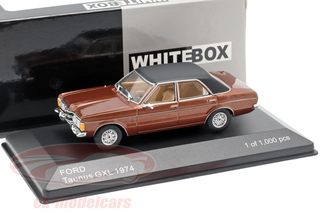 bos-models-1-43-ford-taunus-gxl-bouwjaar-1974-bruin-metalen-zwart-whitebox-wb277/