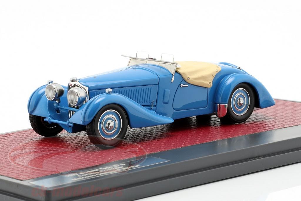 matrix-1-43-bugatti-type-57-s-corsica-roadster-m-campbell-aide-ouvert-economiseur-dno39ecran-annee-de-construction-1937-bleu-mx40205-092/