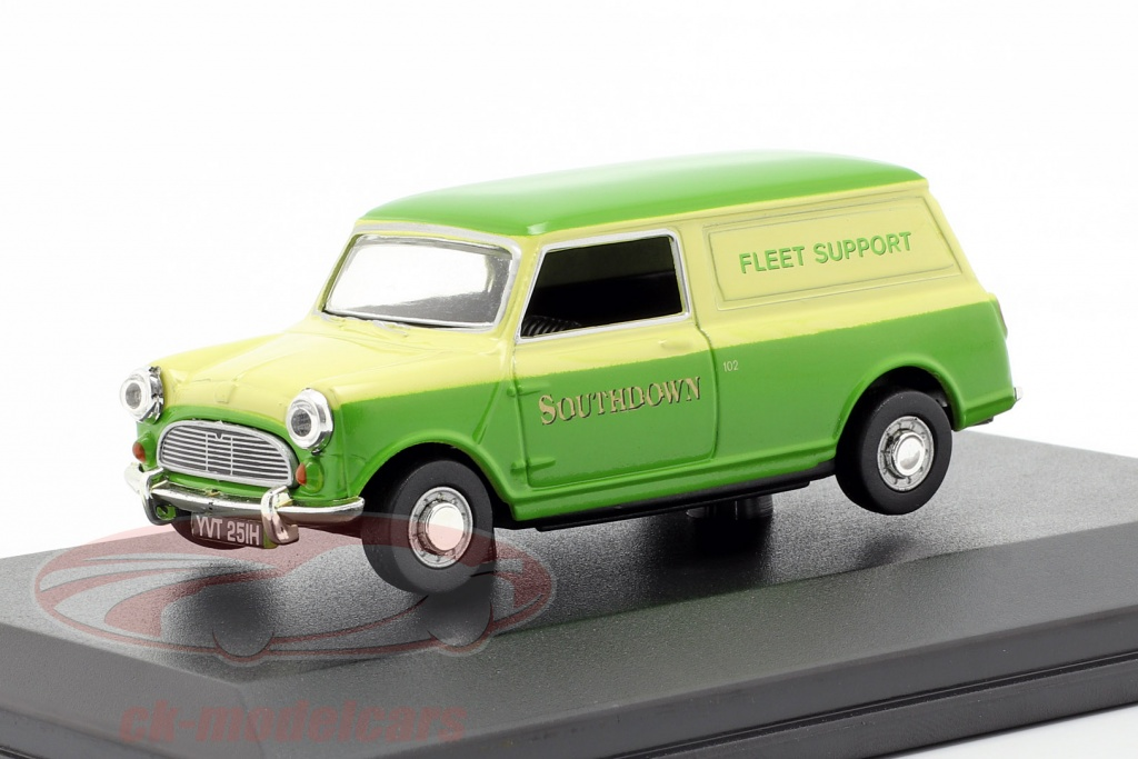 oxford-1-43-austin-minivan-southdown-fleet-support-gruen-gelb-mv028/
