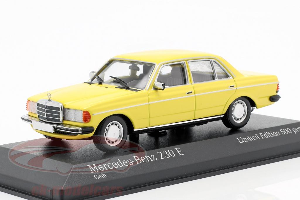 minichamps-1-43-mercedes-benz-230-e-w123-annee-de-construction-1982-jaune-943032203/