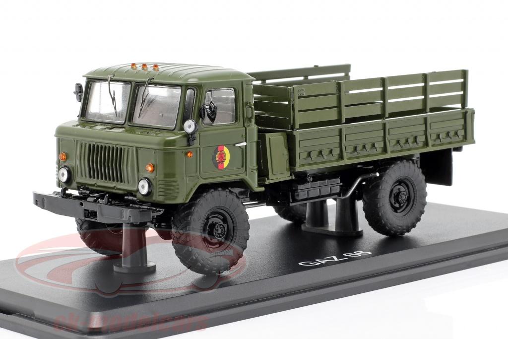 premium-classixxs-1-43-gaz-66-pritsche-lkw-nva-militaerfahrzeug-dunkeloliv-pcl47052/