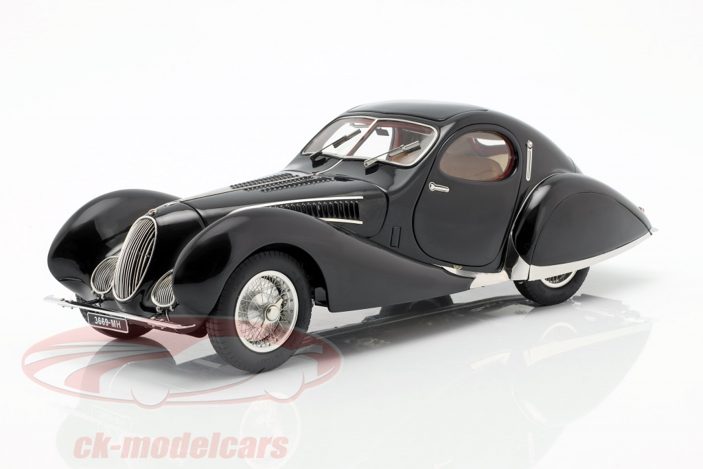 cmc-1-18-talbot-lago-t150-c-ss-teardrop-baujahr-1937-1939-mit-figur-und-vitrine-m-166tc/