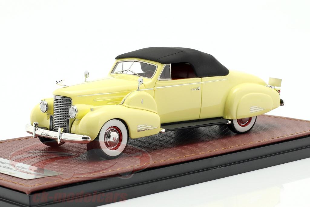 great-lighting-models-1-43-cadillac-v16-convertibile-coupe-closed-top-anno-di-costruzione-1938-crema-giallo-glm43101602/