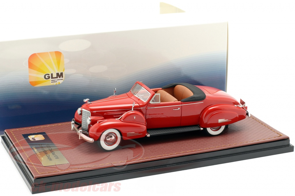 great-lighting-models-1-43-cadillac-v16-conversvel-coupe-open-top-ano-de-construcao-1938-vermelho-glm43101603/