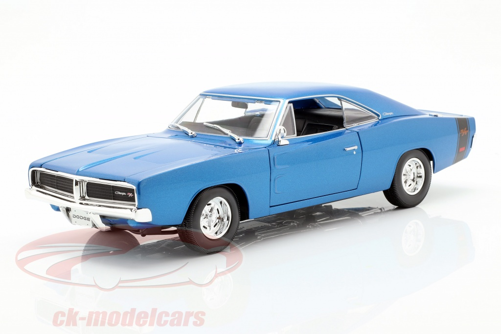 maisto-1-18-dodge-charger-r-t-year-1969-blue-metallic-31387b/