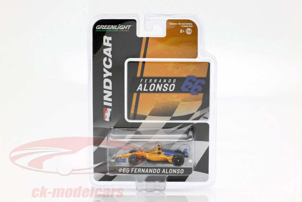greenlight-1-64-fernando-alonso-chevrolet-no66-calificativo-indy-500-2019-mclaren-racing-10845/