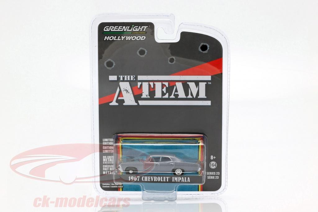 greenlight-1-64-chevrolet-impala-annee-de-construction-1967-serie-tv-la-a-team-1983-87-gris-bleu-44830-d/