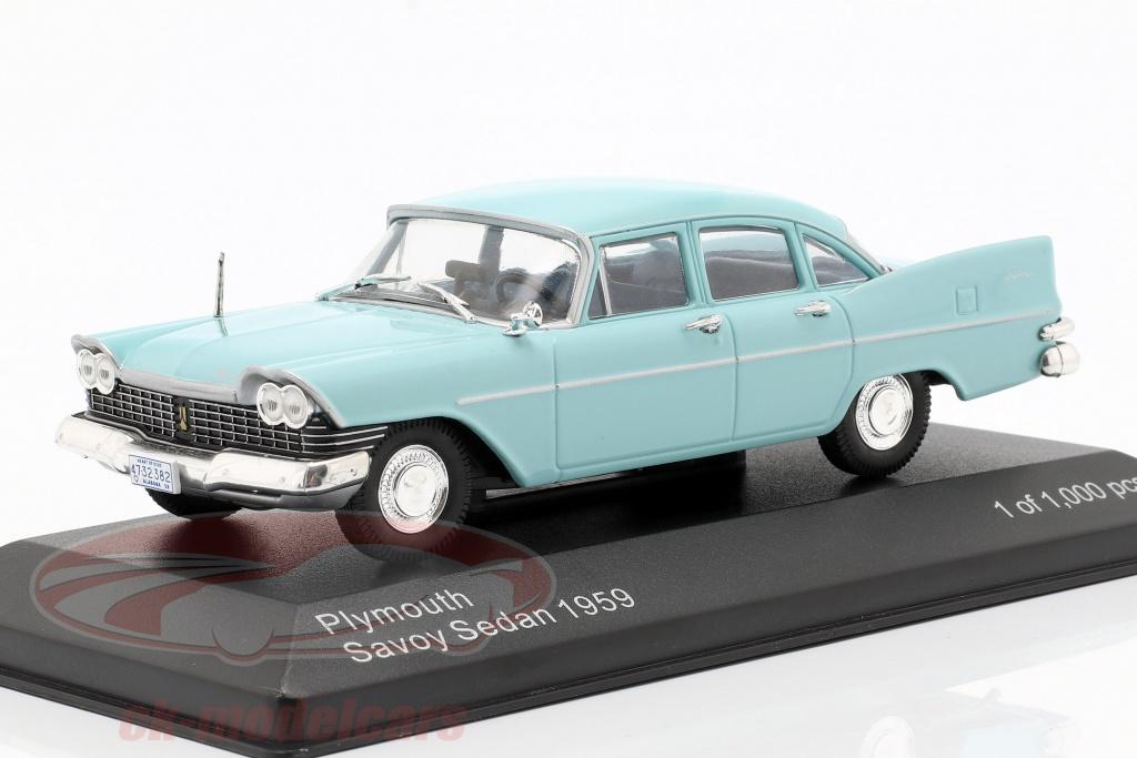 whitebox-1-43-plymouth-savoy-sedan-bouwjaar-1959-lichtblauw-wb289/