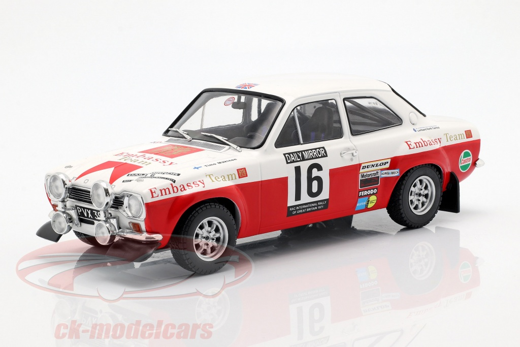 ixo-1-18-ford-escort-rs-1600-mk1-no16-5e-rac-verzameling-1971-maekinen-liddon-18rmc024b/