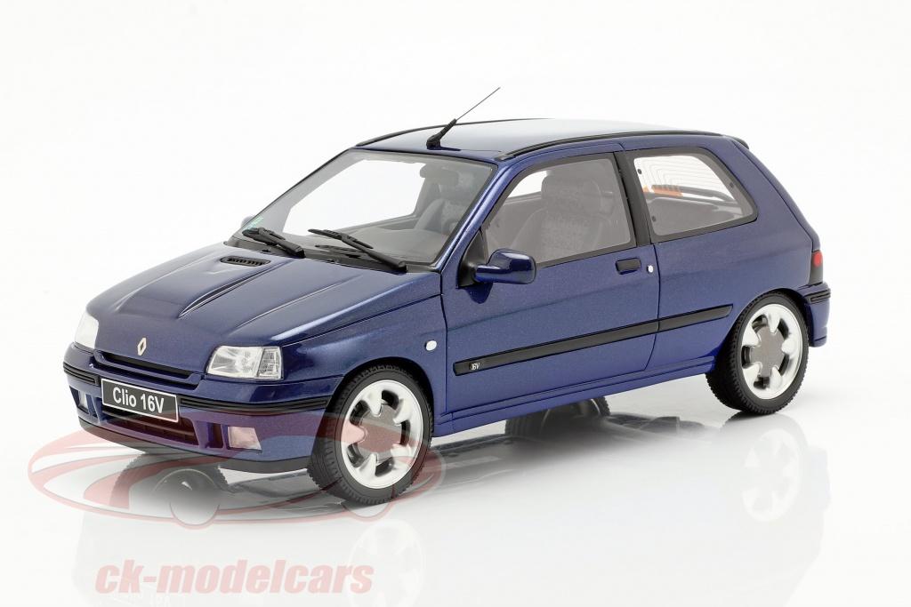 ottomobile-1-18-renault-clio-16v-phase-2-anno-di-costruzione-1995-monaco-blu-ot744/