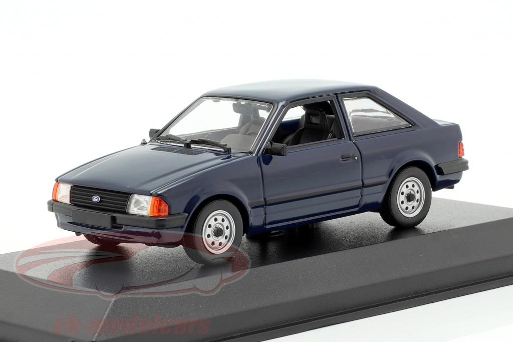 minichamps-1-43-ford-escort-annee-de-construction-1981-bleu-fonce-940085000/