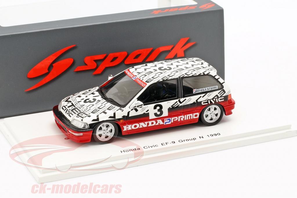 spark-1-43-honda-civic-ef9-no3-grupo-n-suzuka-circuit-test-1990-satoru-nakajima-s5459/