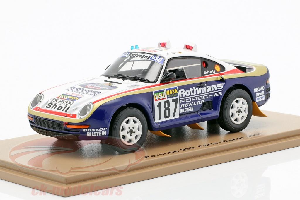 spark-1-43-porsche-959-no187-rally-paris-dakar-1986-kussmaul-unger-s7816/