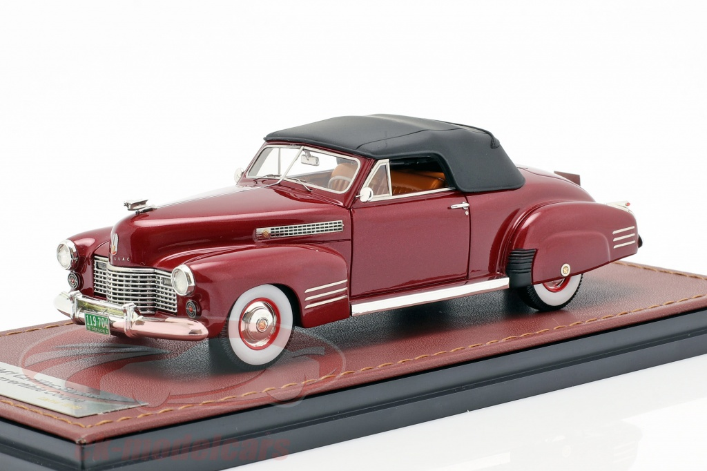 great-lighting-models-1-43-cadillac-series-62-convertible-closed-top-annee-de-construction-1941-sombre-rouge-glm119704/