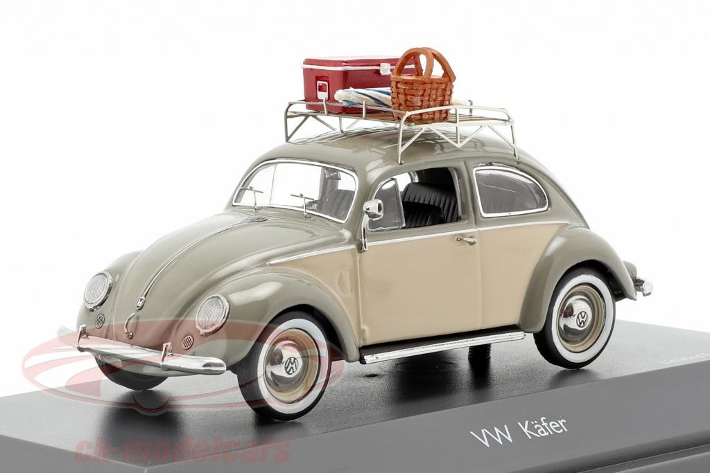 schuco-1-43-volkswagen-vw-escarabajo-ovali-picnic-gris-beige-450258500/