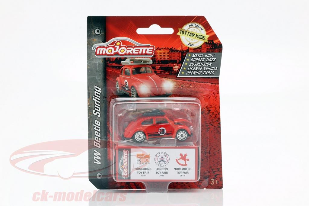 majorette-1-64-volkswagen-vw-coleoptere-avec-planche-de-surf-toy-fair-2019-rouge-212052016to9/