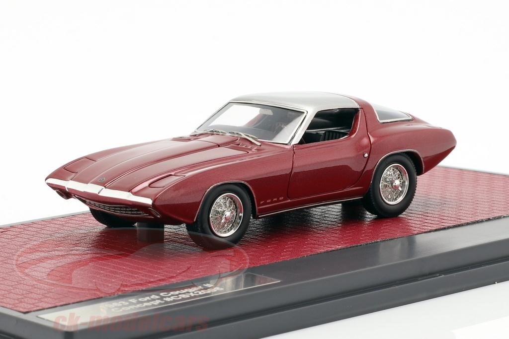 matrix-1-43-ford-cougar-ii-concept-car-annee-de-construction-1963-pourpre-argent-mx50603-031/