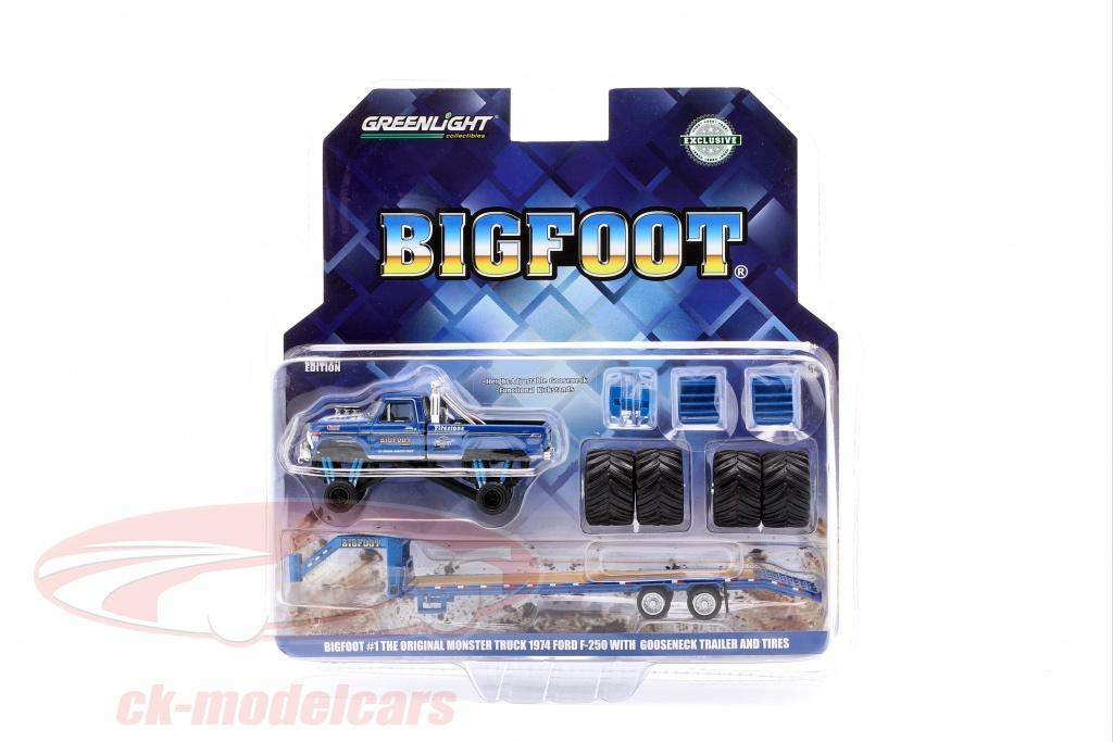 greenlight-1-64-ford-f-250-monster-truck-bigfoot-baujahr-1974-with-trailer-blau-30054/
